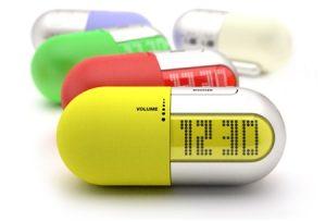 Imagen de reloj en una píldora