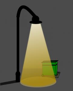 Fábula de la farola y el contenedor